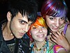 Zach Me and Tiffani!! (Megan is me...) Tags: blue red portrait orange color green colors smile fashion rose yellow zach self hair effects photography one diy clothing crazy rainbow eyes colorful neon pretty colours russell bright unique awesome meg violet plum megan style nuclear special clothes kind fishbowl iguana jerome colored zachary mayhem punky striped bleached dyed napalm tiffani tiffy sfx rosered megface meganisme bleachednapalmorange