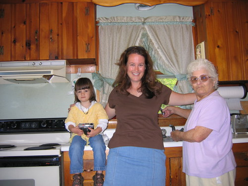 Old photo of Gram in kitchen