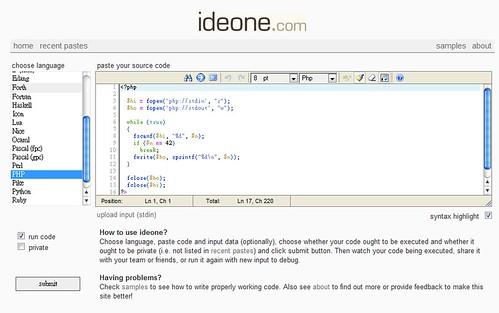 ideone.com step 2