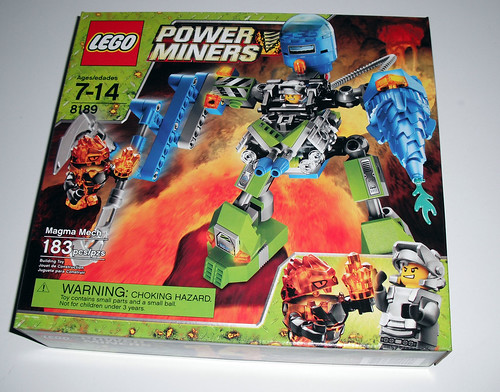 2010 LEGO Power Miners 8189  Magma Mech - Box Front