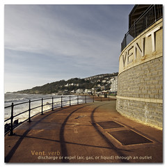 Vent - Dictionary of Image ( The Ventnor Poo Palace ) (s0ulsurfing) Tags: ocean uk november shadow sea england sky seascape english praia beach water lines composition canon fence island vent idea bay coast mar scenery skies shadows pov curves wide perspective shoreline wideangle curvy coastal crap shore sewage vectis ventnor isleofwight definition vista coastline poo curved isle 2009 outlet dictionary channel englishchannel wight cirrus discharge treatment expel lamanche curving doi 10mm sigma1020 s0ulsurfing ventnorbay coastuk poopalace thedictionaryofimage wastewateroutlet