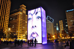 The Crown Fountain (Seth Oliver Photographic Art) Tags: park urban chicago illinois nikon midwest nightimages nightlights cityscapes millenium milleniumpark filipino nightshots millenniumpark pinoy nightscapes urbanscapes chicagoist d90 garbongbisaya setholiver1 nocturneimages