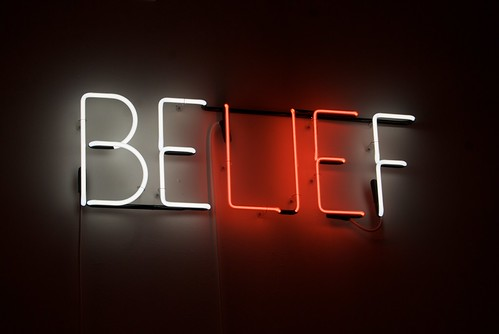 """Belief - Neon sculpture by Joe Rees"""