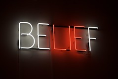 Belief - Neon sculpture by Joe Rees by Steve Rhodes, on Flickr