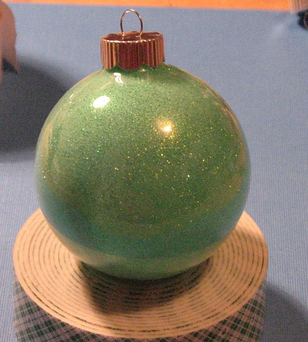 #7 - Glitter Filled Glass Ornament 013