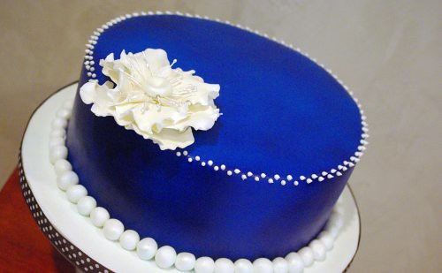 Denim & Pearls Birthday Cake