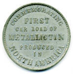 Pittsburg & Mexican Tin Mining Co. Medal reverse