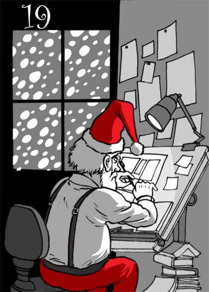 Overworked Artist Santa