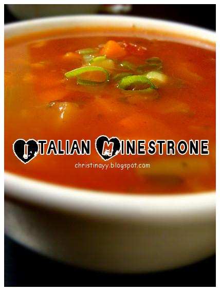 Christmas Eve Dinner 2009: Italian Minestrone