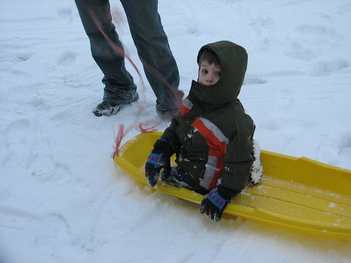 Sledding with Uncle I