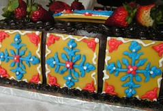 A close up the of Mexican tiles
