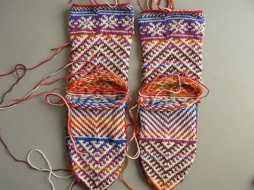 kilim socks wip2