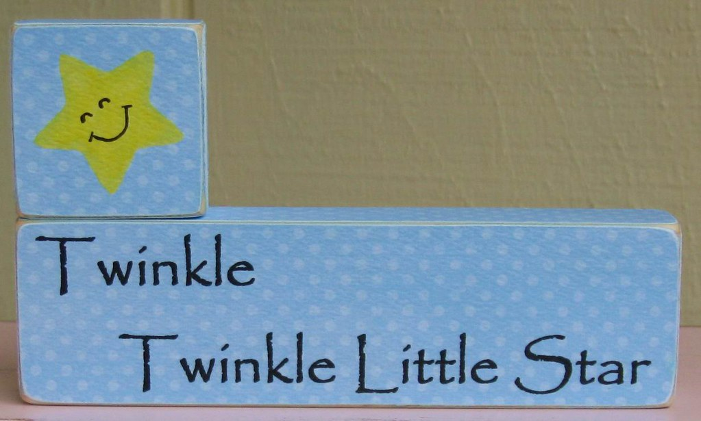Wooden Blocks Set- Twinkle Twinkle Little Star