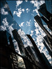 Monoliths (ZinBoy) Tags: monoliths sky blue buildings clouds 42ndstreet madison midtown architecture reflections cibcworldmarkets angle