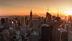 NEW YORK, NEW YORK. (felt_tip_felon®) Tags: nyc newyork manhattan 5boroughs downtown midtown empirestate bigapple freedomtower wtc1 sunset view topoftherock landscape statueofliberty independence america usa states neversleeps glow flare vista