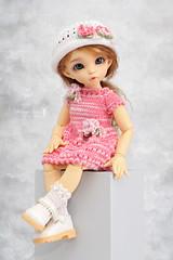Spring is coming! 🌸☘️ (Maram Banu) Tags: doll bjd fairyland littlefee ante yosd pink spring handmade outfit clothes fairystyle marambanu