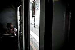 Flying back home [Commuters] (Luca Napoli [lucanapoli.altervista.org]) Tags: street portrait people milan underground lumix loneliness candid milano streetphotography rails commuting publictransport urbanjungle reportage pendolari candidportrait mm2 milanouelw extremestreetphotography scattorubato candidstreetphotography lx3 lumixlx3 panasoniclx3 lucanapoli metropolitanamm2milano flyingbackhomecommuters ungiornotorneròacasa treing mezzipubbliciitaliani commuterloneliness