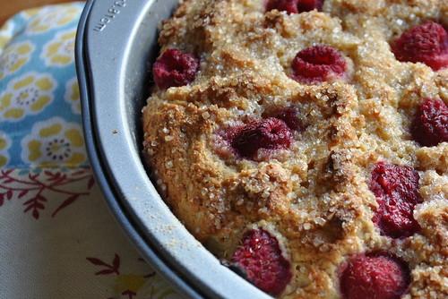 Raspberry Buttermilk Cake with Salt and Sugar Crust