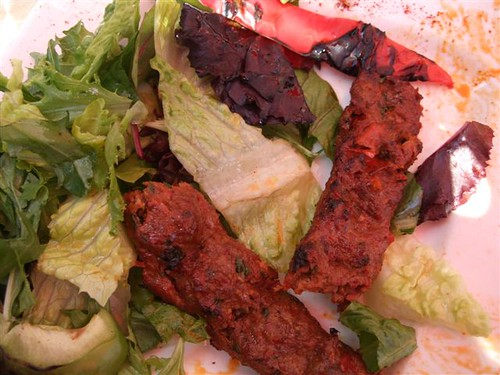 Adana Kebab (chopped beef & lamb seasoned with spicy red bell peppers and char grilled) by TheGirlsNY