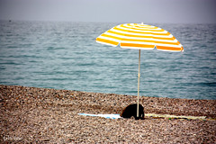 Lleg el verano - Summer is here (GViciano) Tags: sea summer beach umbrella mar playa towel verano sombrilla castelln toalla benicasim gviciano