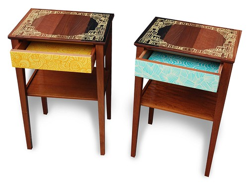 Hand Made Recycled Side Tables/Drawers