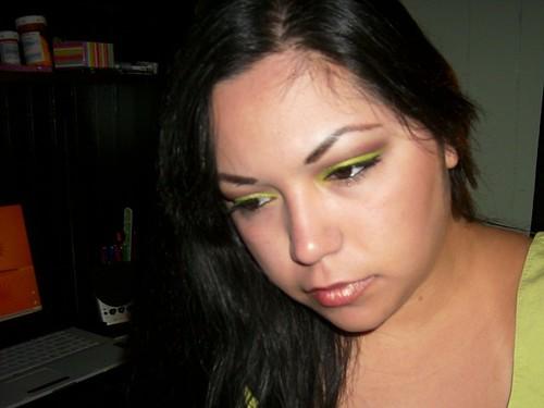 Lime & Brown Eyeshadow