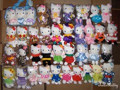 hello kitty bean bag collection (iheartkitty) Tags: cute bag bean plush sanrio kawaii beanie mascots