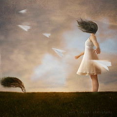 wherever the wind may blow (N) Tags: tree field hair bend wind bec scratch textured windblown paperplanes 100faves jennyterasaki artistictreaurechest imagicland
