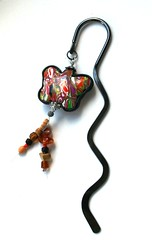Bookmark with polymer clay butterfly