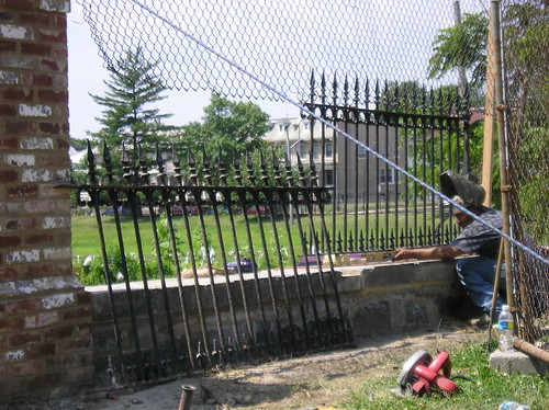 Fence Repair at Old Soldiers' Home