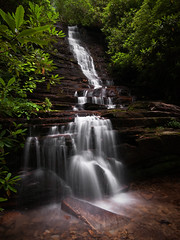 Panther Falls (JLMphoto) Tags: county longexposure water creek georgia landscape flow waterfall falls explore panther rabun chattahoocheenationalforest pantherfalls abigfave jlmphoto lakerabuncampground2