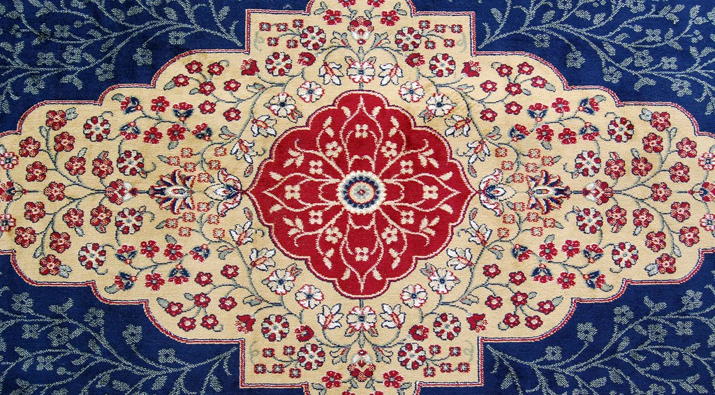 Persian Rug, Slight Red Stain