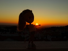 O Pôr do Sol na minha mão