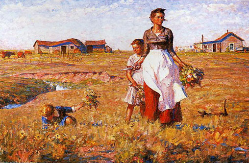 harvey dunn the prairie is my garden