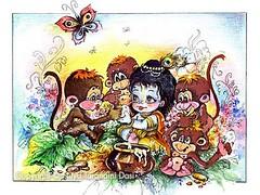 Krishna and monkeys - ISKCON desire tree (ISKCON Desire Tree) Tags: demon krishna radha vrndavana balaram iskcon putana devaki radharani kamsa bakasura aghasura