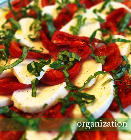 Roasted Tomato Caprese Salad (with title)