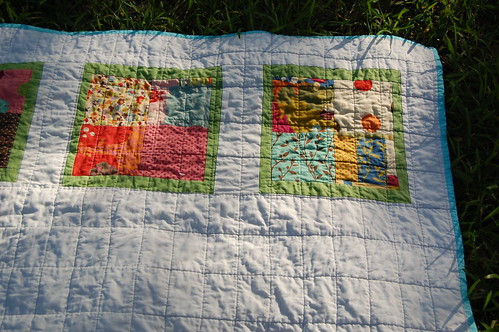Wonderland Windowpane Baby Quilt