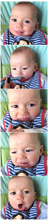 Liam starting solids at 5 months