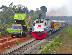 CC 20166 Hauled Langsam Train passing Maja Double Track Project road to Rangkas Bitung (Bang Ricki VanDirjo Sepur44) Tags: road train project track maja double cc passing iliad homers 20166 hauled langsam bitung homersiliad rangkas travelsofhomerodyssey
