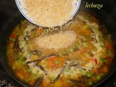arroz con verduras-añadir arroz