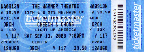 20080713 - Cheech & Chong ticket stub