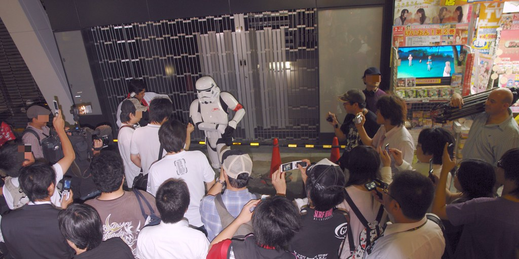 Imperial Storm trooper in Akihabara st. WOW!