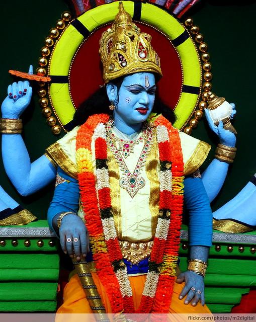 god Indian blue faced