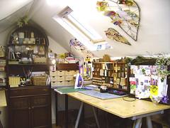 Paula's Loft (Wychbury Designs) Tags: uk loft vintage antique craft workspace wychbury