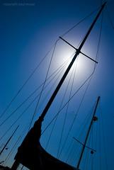 The Sign of the Cross (Paul McRae (Delta Niner)) Tags: california ca blue sun silhouette mast sanfransiscobay jelisarose d800fr