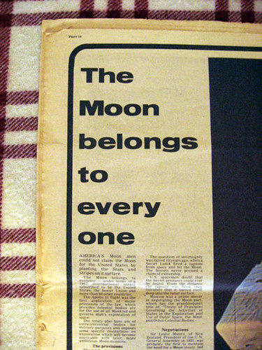 Moon Landing Newspaper from 1969