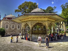 Ayasofya ( Hagia Sophia ) Ablution Fountain (Nejdet Duzen) Tags: trip travel history fountain architecture turkey istanbul mosque tourist ottoman hagiasophia camii ayasofya turist eme osmanl tarih turizm mywinners abigfave anawesomeshot yrkiye ottomanstyle seyaht