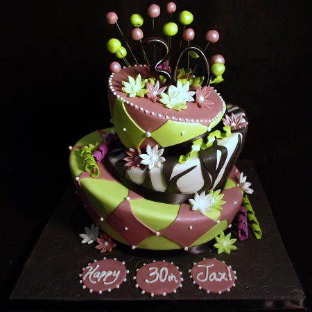 Mad Hatter 30th Birthday Cake