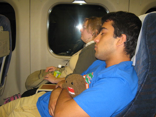 Sleeping Dave and Domo-kun