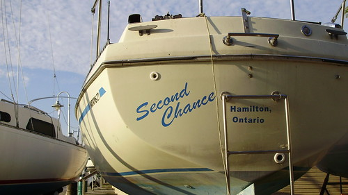 boat in Hamilton Harbour